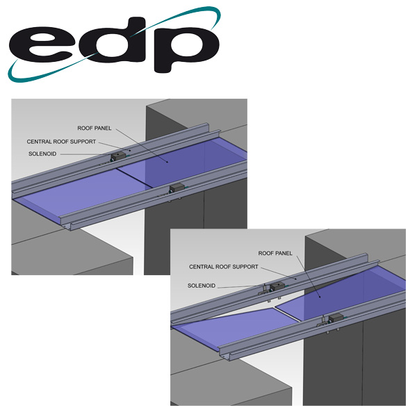 Cold Aisle Containment Electronic Roof Release