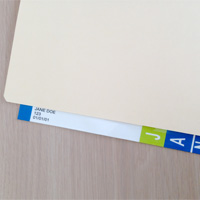 Convert-A-Tab on File Folder