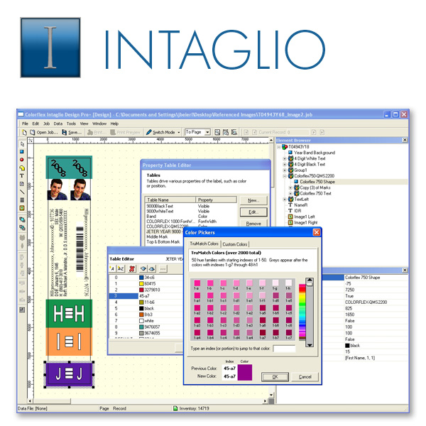 Intaglio Label Printing Software
