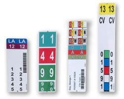 The range of Convert-A-Label Factory Finished Strip Labels