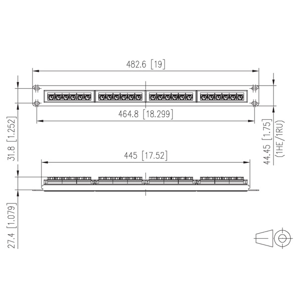 metz connect 24 port 1ru utp lsa cat 6 patch panel. Black Bedroom Furniture Sets. Home Design Ideas
