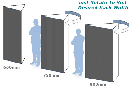 EziBlank Wall (EZIWALL) Rack Sizes Alter By Rotating The Unit