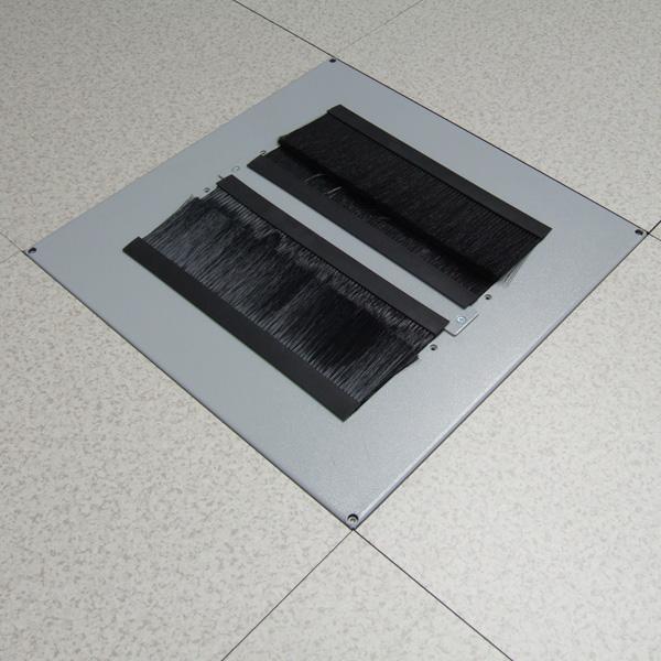 Replacement Brush Floor Tile Installed in Floor