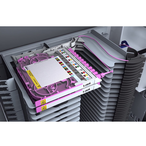 Huber+Suhner Fibre Tray Mounted in ODF
