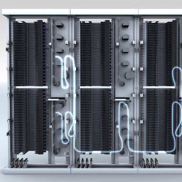 Huber+Suhner ODF Allows Cabling Between Racks