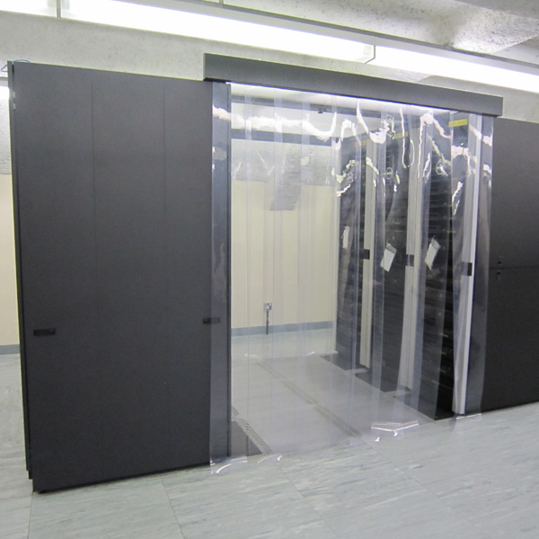 Cold Aisle Containment Using Thermal Curtains