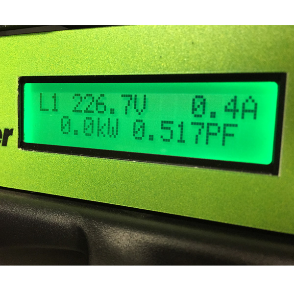 iPower feature LCD for displaying local power information