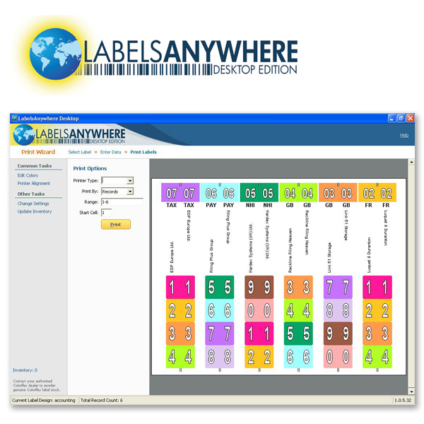 LabelsAnywhere Desktop Edition - Label Printing Software