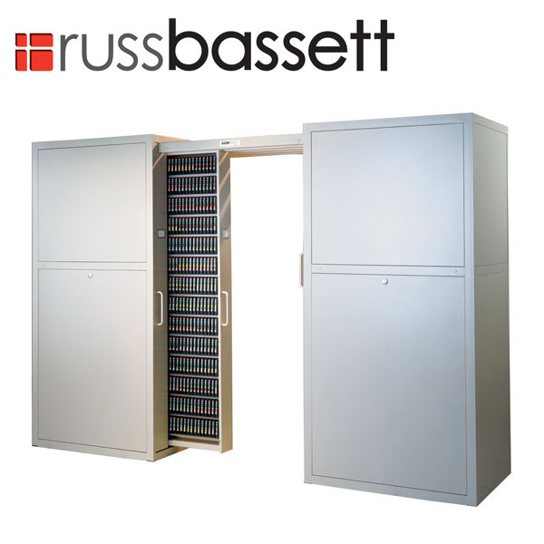 Russ Bassett Gemtrac High Density Media Storage Solution