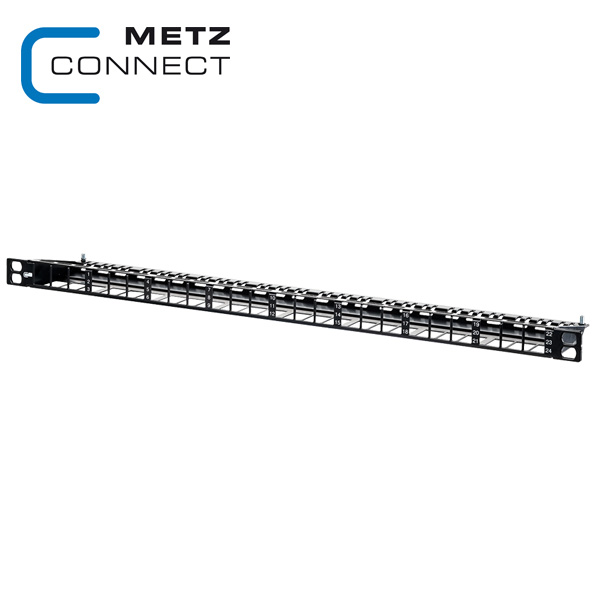 METZ CONNECT 0.5RU 24 Port Module Frame for Keystone modules