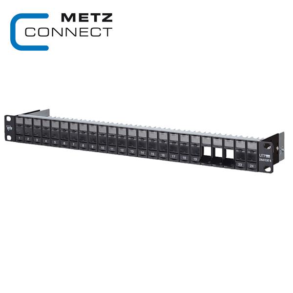 METZ CONNECT 1RU 19in UTP Keystone Module Frame for Cat.5e or Cat6
