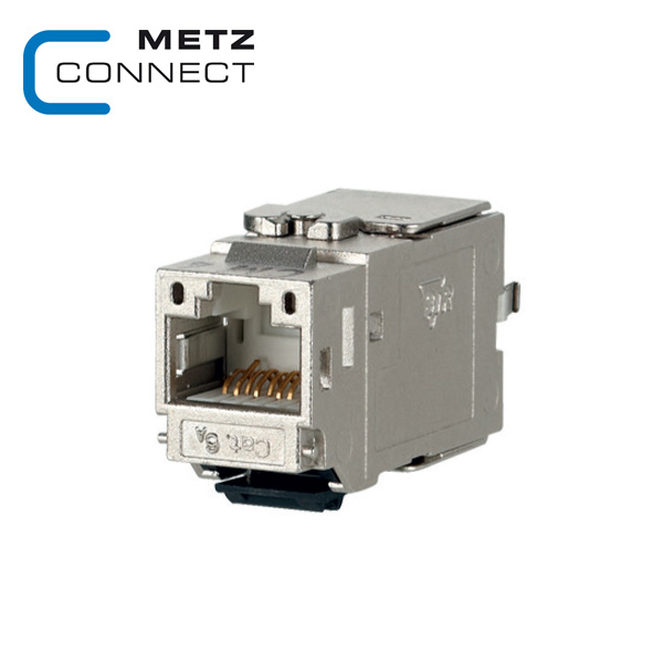 METZ CONNECT Keystone Cat6A Module 180° Feed