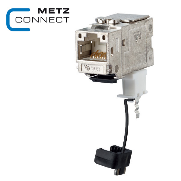 METZ CONNECT Keystone Cat6A Module with 270° Cable Feed