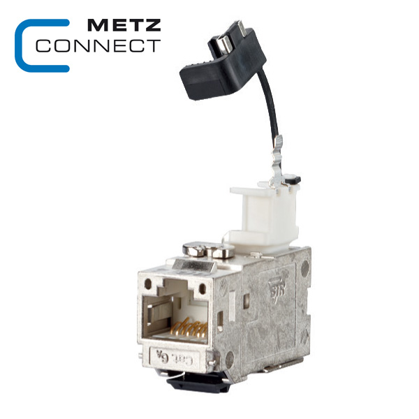 METZ CONNECT 90° Angled Cat6A Keystone Module
