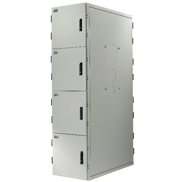 4 Compartment USystems Co-Location Rack with Solid Steel Doors