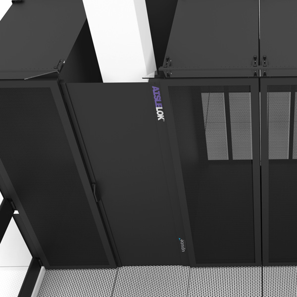 AisleLok Adjustable Gap Panel fills gaps caused by missing IT racks or by building support pillars