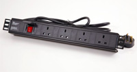 Horizontal Rack PDU with UK Sockets