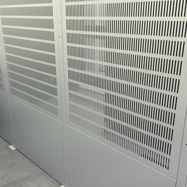 IT Security Cages using Slotted Vented Metal Panels