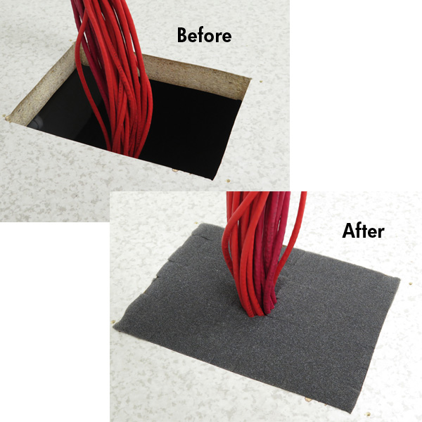 RackSEAL Floor before and after installation