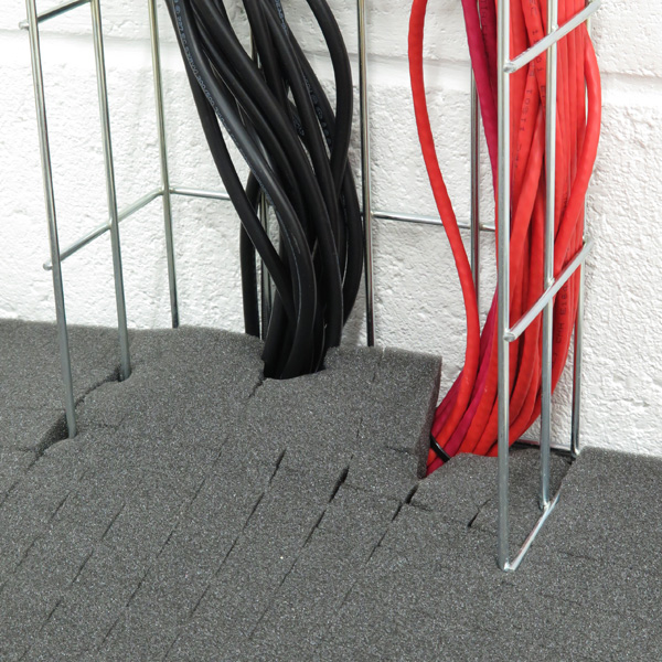 RackSEAL Floor can be used to seal around cable entries
