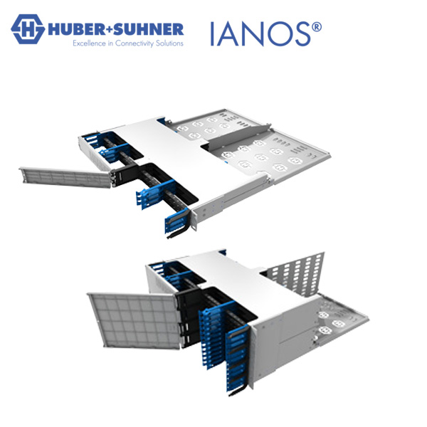 HUBER+SUHNER IONAS 1U and 4U Chassis