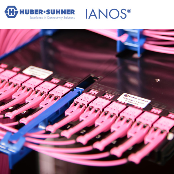 HUBER+SUHNER IONAS modules installed in chassis