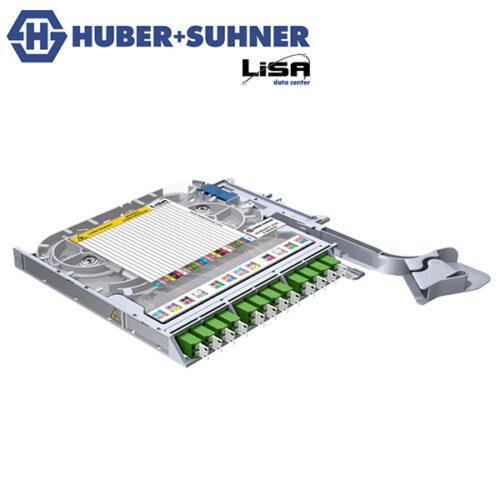 HUBER+SUHNER LISA Fibre Tray 12 x LCD OS2 APC DIN Code - Part No. 85088059