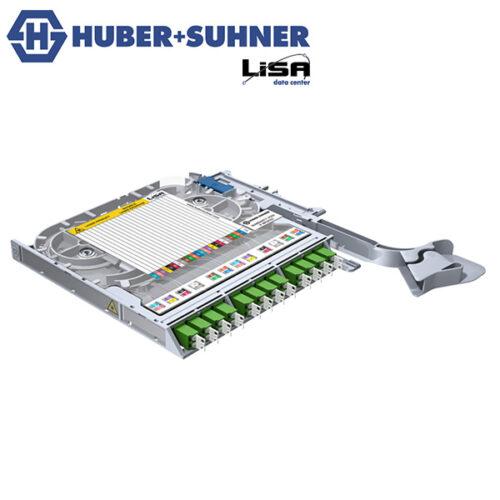 HUBER+SUHNER LISA Fibre Tray 12 x LCD OS2 APC PT Code - Part No. 85088088