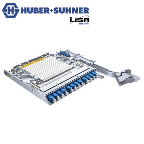 HUBER+SUHNER LISA Fibre Tray 12 x LCD OS2 UPC No Code - Part No. 85088090