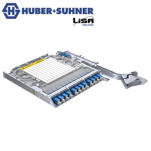 HUBER+SUHNER LISA Fibre Tray 12 x SC OS2 UPC No Code - Part No. 85088494