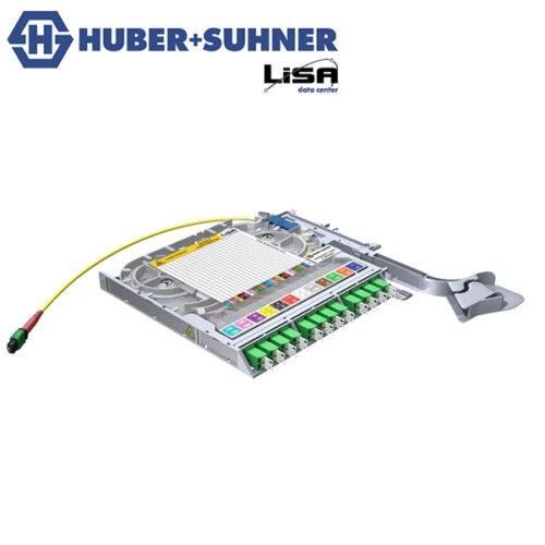 HUBER+SUHNER LISA Fibre Tray 12 x LCD, 1 x MTP24 NP, APC, OS2 - Part No. 85088663