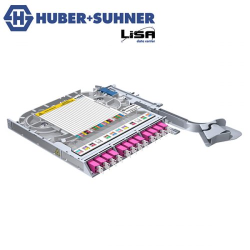 HUBER+SUHNER LISA Fibre Tray 12 x LCD OM4 PC TIA Code - Part No. 85088676