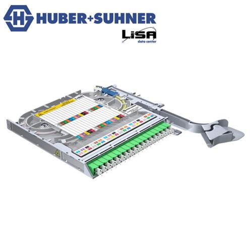 HUBER+SUHNER LISA Fibre Tray 18 x LCD OS2 APC DIN Code - Part No. 85096766