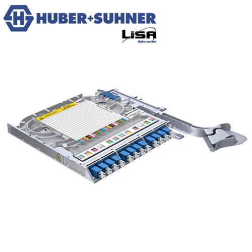 HUBER+SUHNER LISA Fibre Tray 12 x LCD OS2 UPC TIA - Part No. 85099647