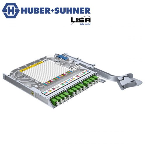 HUBER+SUHNER LISA Fibre Tray 12 x LCD OS2 APC TIA Code - Part No. 85101367