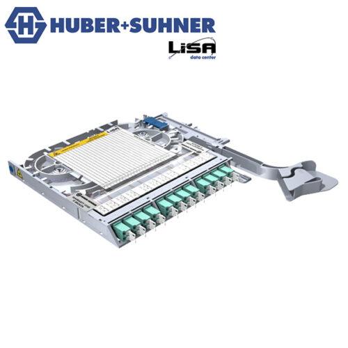 HUBER+SUHNER LISA Fibre Tray 12 x LCD OM3 PC No Code - Part No. 85102497