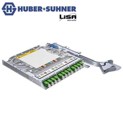 HUBER+SUHNER LISA Fibre Tray 12 x LCD OS2 APC DIN Code - Part No. 85102791
