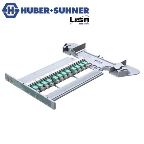 HUBER+SUHNER LISA Patching Tray 12 x SC Simplex, OM3, Multi Mode - Part No. 85106129