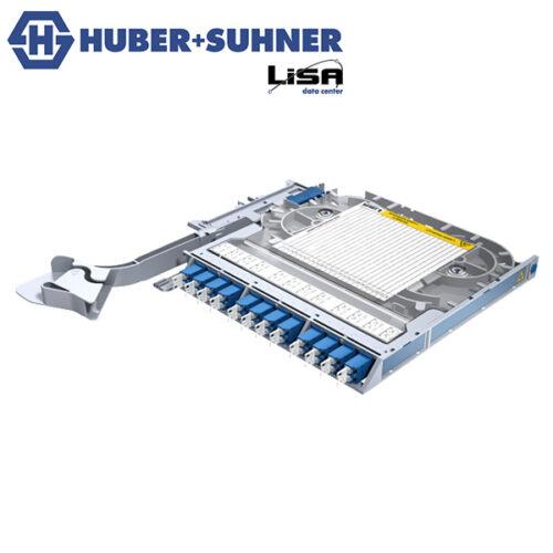 HUBER+SUHNER Right Hand LISA Fibre Tray 12 x LCD OS2 UPC No Code - Part No. 85108917