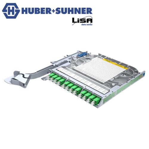 HUBER+SUHNER Right Hand LISA Fibre Tray 12 x LCD OS2 APC No Code - Part No. 85111134