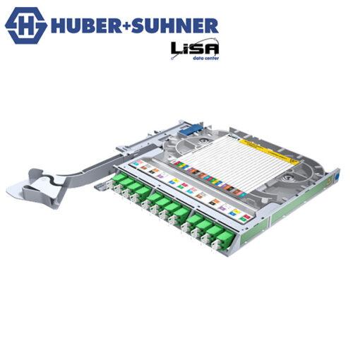 HUBER+SUHNER Right Hand LISA Fibre Tray 12 x LCD OS2 APC SWC Code - Part No. 85111136