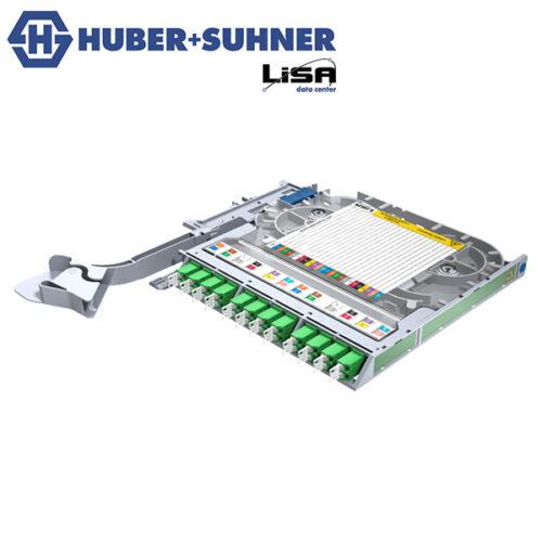HUBER+SUHNER LISA Fibre Tray Right Hand 12 x LCD OS2 APC TIA Code - Part No. 85111137