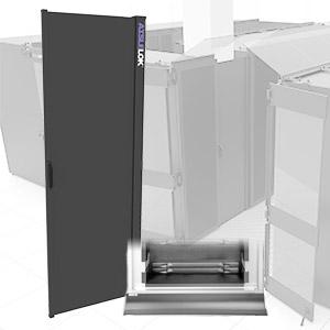 AisleLok Rack Gap Panels improve row airflow management