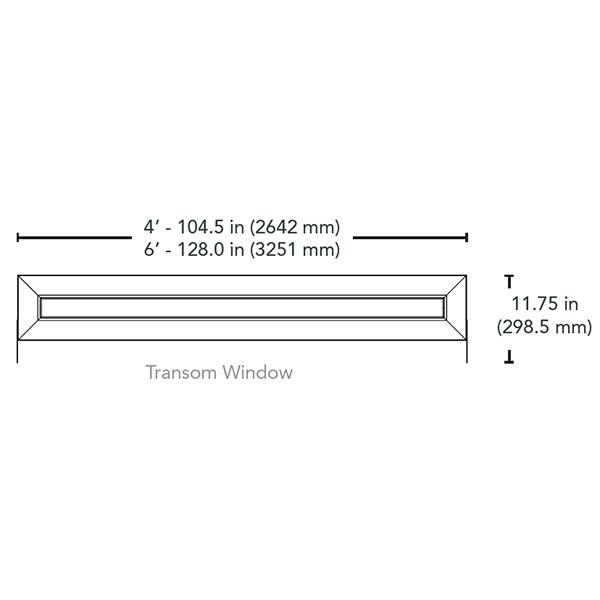 AisleLok Transom Window Dimensions