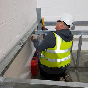 Bergvik Iso Floor being installed