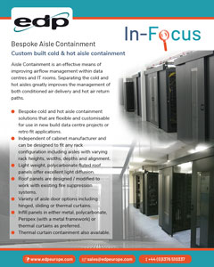 Bespoke Aisle Containment systems for hot or cold aisle containment
