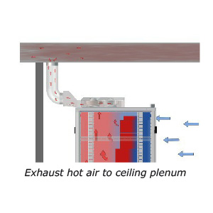 ColdLogik DAX can exhaust to ceiling plenum
