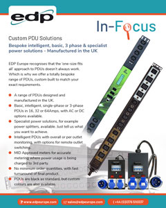 Custom built, bespoke PDUs built to meet the exact rack power requirement