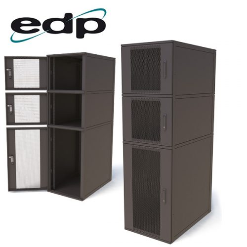 EDP Europe's 600mm wide 3-way Colocation Cabinet
