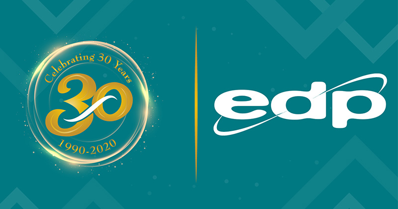 EDP Europe Celebrates 30 Years in Business 1990-2020